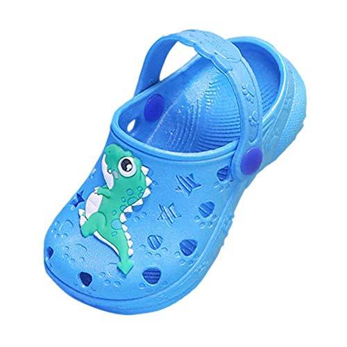 Sandalen Kinder Jungen Sommer Schuhe Geschlossen Clogs Mädchen Hausschuhe Atmungsaktiv Riemen Strand Leicht Outdoor Unisex Blau Gr 32 33