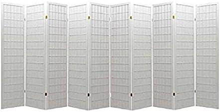 lowest Popular product price 10 Panel Room Divider Square Design White