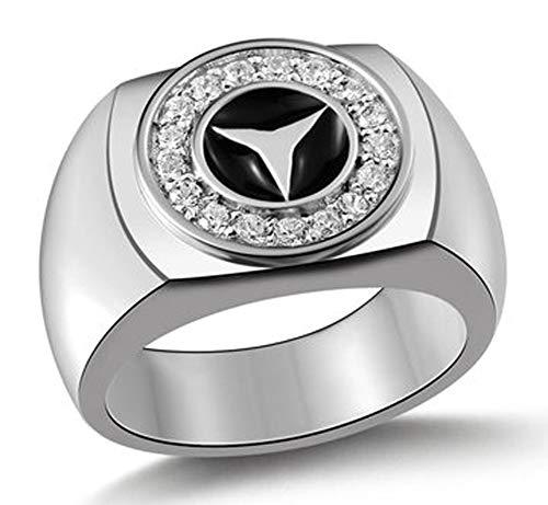RXSHOUSH Anillo de plata S925 para hombre, anillo de pareja, regalo dominante, tendencia de moda 16 – 22, tamaño 17#