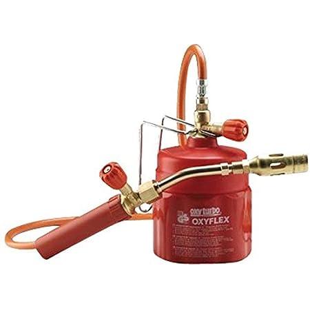 Kit de fer à souder mobile professionnel, chalumeau à gaz butane, art.504000Oxyflex, fabriqué en Italie, Oxyturbo