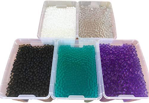 20 litri 3500 perline d acqua – Dispenser di umidità – quantità selezionabile per piante decorative vasi di medie dimensioni – trasparente viola, nero, bianco, colore a scelta (bianco)
