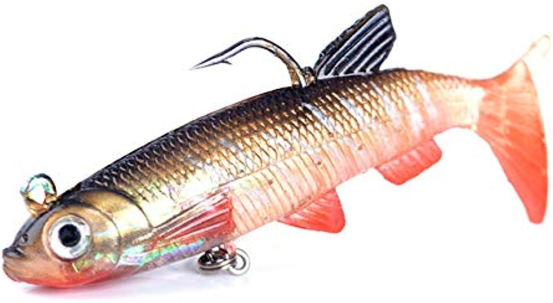 Fish King 5pcs 6 8 10cm Soft s Head Jig Fishing Lure 3D Eyes T Plastic Pike Lure Fishing Tackle 5565   069, 8cm 5PCS