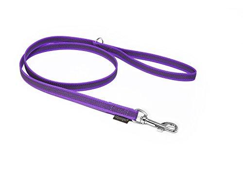 Mystique® Gummierte Leine 12mm ohne Handschlaufe Standard Karabiner lila 2m