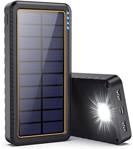 Dywill Cargador Solar 26800mAh, Batería Externa Solar con Entrada Tipo C y...