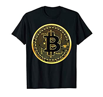Bitcoin Crypto Currency BTC Block Chain Techie Gold Coin T-Shirt