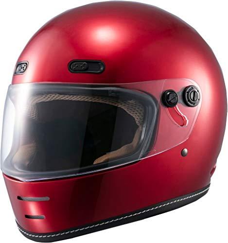 マルシン(MARUSHIN) バイクヘルメット ネオレトロ フルフェイス END MILL (エンド ミル) キャンディーレッド Lサイズ (59-60cm) MNF1 2001215