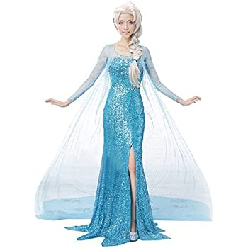 アナと雪の女王 エルサ コスプレ ドレス衣装 3点セット ( ドレス + CosplayINCオリジナル特典) Mサイズ c319m