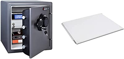 SentrySafe SFW123GDC Fireproof Safe and Waterproof Safe with Digital Keypad 1.23 Cubic Feet, Gun Metal Grey & 903 Shelf Accessory, for SFW082 and SFW123 Fire Safes , White