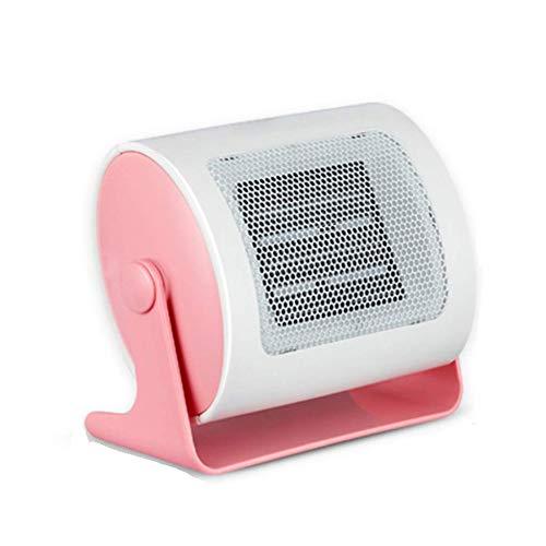 Wash Portátil del Ventilador del Calentador, Vertical o Superficie Plana, Ajustable termostato, protección contra sobrecalentamiento con opción de refrigeración, 1-2 kW, Rosa