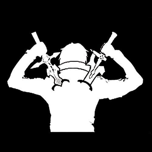 2 Stück, Aufkleber Autoaufkleber für Auto-Autos, gestanzte Vinyl Fenster Aufkleber / Aufkleber, Anime Ninja Krieger Schwerter Interessante Auto-Styling Auto Tattoo Auto Aufkleber, Vinyl Aufkleber