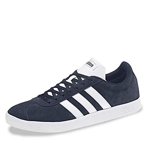 adidas VL Court 2.0, Scarpe da Fitness Uomo, Blu (Maruni/Ftwbla 000), 42 2/3 EU