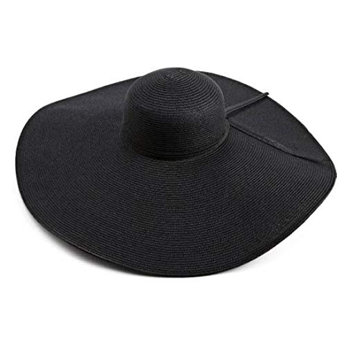 San Diego Hat Company Women's Ultrabraid X Large Brim Hat,Black,One Size