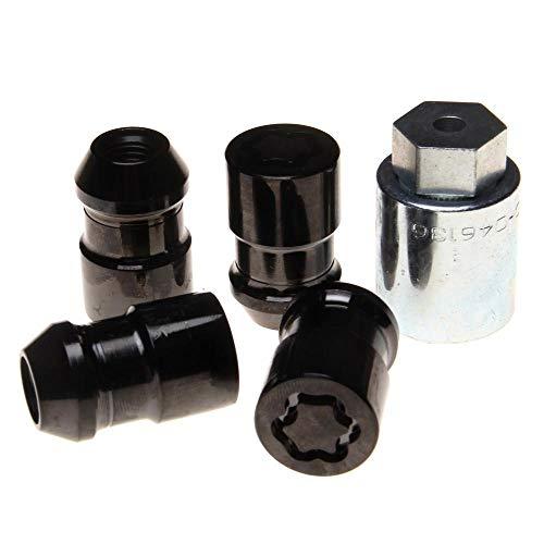 24137SUB Radsicherungsmuttern SUB (Schwarz) M12x1.5, Kegelsitz, Gesamtlänge 37,0mm, SW19, Schlüsseldurchmesser 27,7 mm