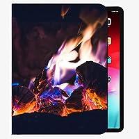 iPadケースフィット2018/2017 iPad 9.7 6/6 / 5世代、Bonfire Fire Flame 2992ケーススリムシェルカバー9.7インチ