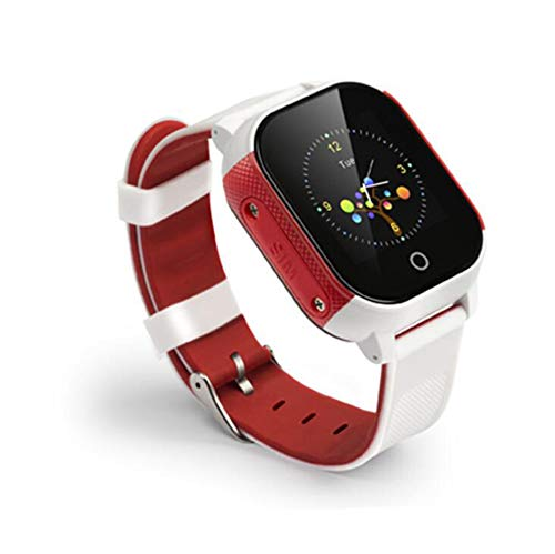 ZWC-tool Kids GPS Smart Locating Watch, IP67 Waterproof Positioning Tracker Support SOS Emergency Call,Voice Detection, Safety Area, Anti-Lost Activity Locator,Red + White