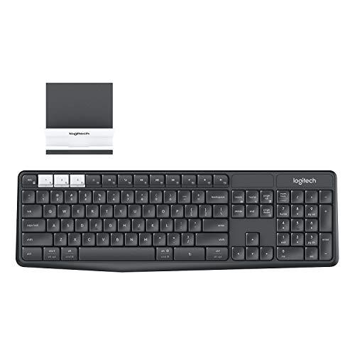 Logitech – K580 Multi-Device Chrome OS Edition Wireless Membrane Keyboard – Graphite