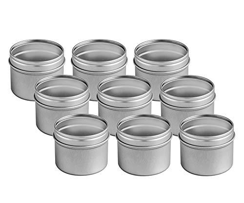 Rimoco 18er Pack kleine Gewürzdosen mit großem Sichtfenster | Ideal für Gewürzschubladen | Höhe: ca. 50 mm, Ø ca. 63 mm | Dosen Material: Weißblech | BPA-frei und lebensmittelecht