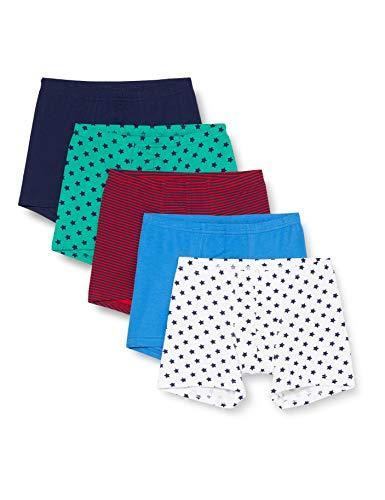 Schiesser Jungen Multipack Boys World 5Pack Shorts Boxershorts, Sortiert 1, 128 (5er Pack)