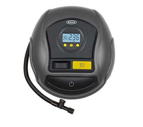 Ring Automotive Ring RTC500 12V Preset Digital, Air Compressor Pump, 3 min Tyre Inflation, LED Light, Carry Case, Valve Adaptors large image