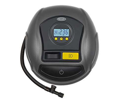 Ring Automotive Ring RTC500 12V Preset Digital, Air Compressor Pump, 3 min Tyre Inflation, LED Light, Carry Case, Valve Adaptors large image