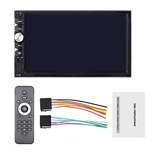 Nrpfell 2 DIN Coche Radio Android Auto Mp5 Reproductor de Video USB Manos Libres Audio EstéReo de Pantalla de Prensa de 7 Pulgadas con para Carplay