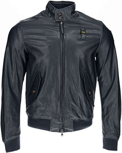 Blauer USA Williams Lederjacke Dunkelblau M