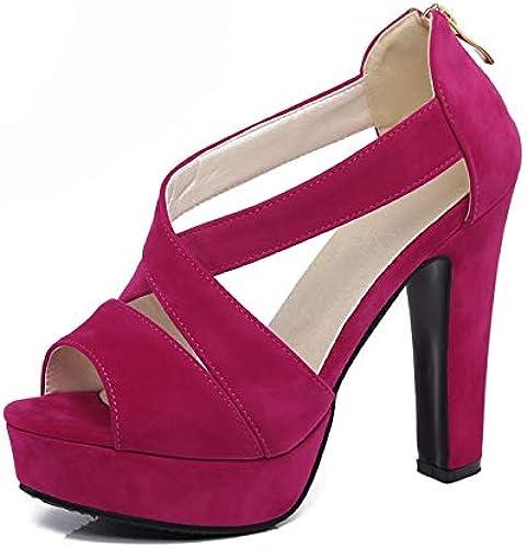 HommesGLTX Grande Taille 32-43 Flock Supérieur Supérieur Sandales Femmes Chaussures D'été Talons Hauts De Mariage De Mariée Chaussures Femme  les dernières marques en ligne