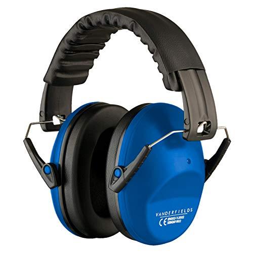 Gehörschutz für Erwachsene - Leicht Faltbar und Komfortable Gehörschutz - Kapselgehörschutz mit Hochwertige Geräuschblockierung - Lärmschutz Kopfhörer für Man und Frau – Hellblau