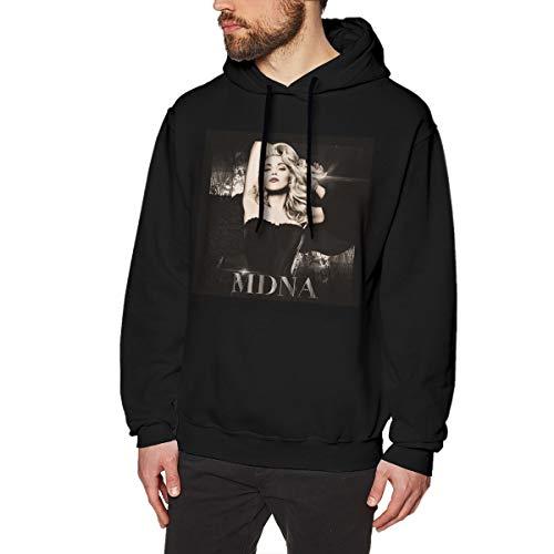 DeyAope Madonna MDNA Männer Lässiges Hoodie-Kapuzenpullover Mit Kordelzug Black S