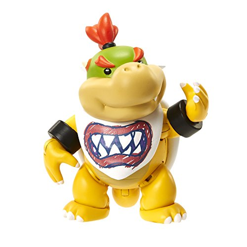World of Nintendo 4' Bowser Jr. with Bib Action Figure