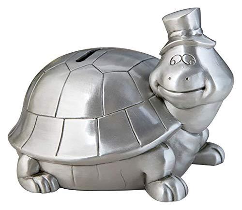 Mini Caja de Dinero Caja de Zinc Aleación Tortuga Piggy Bank Can Hold 300 Monedas Money Bank for Kids Boys Girls Decoración del hogar 13x11.3x9.5cm (Color : A)