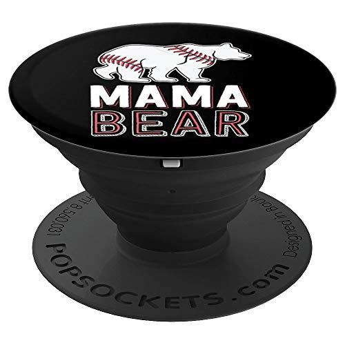 Mama Bear Mom Baseball Shirts For Women Softball Game - PopSockets Ausziehbarer Sockel & Griff für Smartphones & Tablets