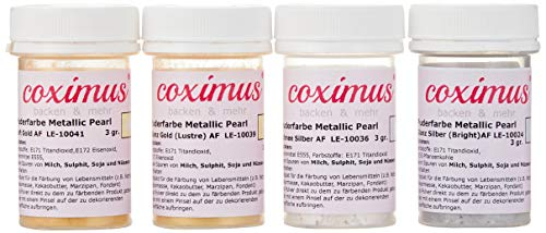coximus Puderfarbe 2 x gold und 2 x silber, 12 g