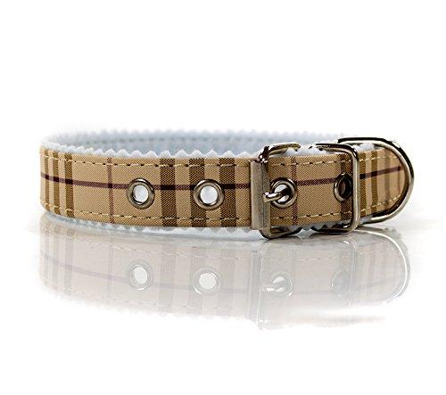 Hundehalsband, kariert, verstellbar von ca. 32 - 38 cm, Hunde, Halsband