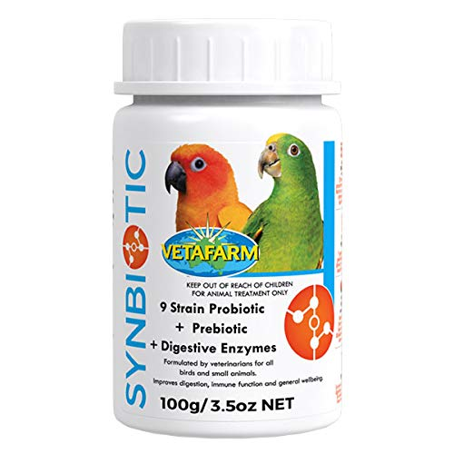 FAB Synbiotic 100g Avian Bird Probiotic with natural Prebiotic for use in drinking water or addition to food.