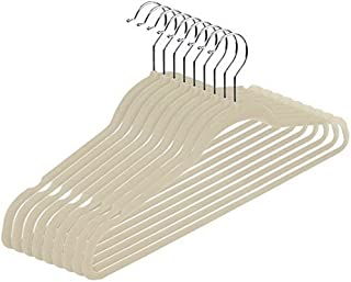 nobrand Waller PAA Velvet Suit Hangers (50 Pack) Heavy Duty Non Slip Black Clip Hangers (Ivory)