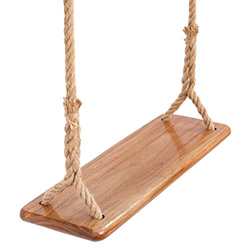 Tree Swing Seat Hanging Wooden Tree Swings for Children Adult Kids Garden,Yard, Indoor, Elm Wood Durable Can Withstand 440IB,Adult Swings and Kide Swings