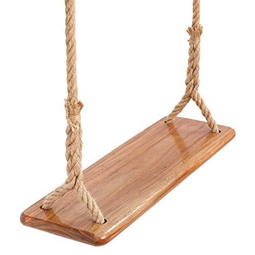 nobrand Baumschaukel zum Aufhängen aus Holz für Kinder, Erwachsene, Kinder, Garten, Innenbereich, Ulmenholz,...