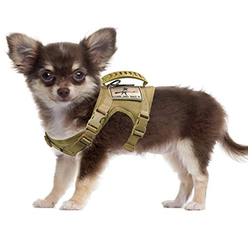 SALFSE Tactical Dog Training Harness Outdoor Working Vest Adjustable Military MOLLE Dog Vest Harness with Rubber Handle