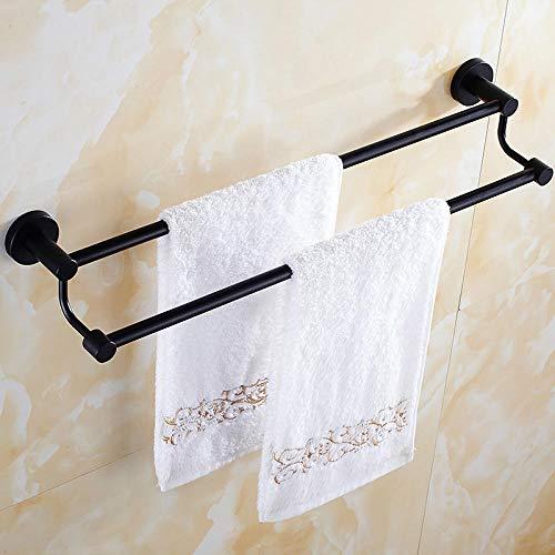 Toallero de baño barra doble Toallero de baño hotel de acero inoxidable barra de toalla doble barra individual-Los 40cm