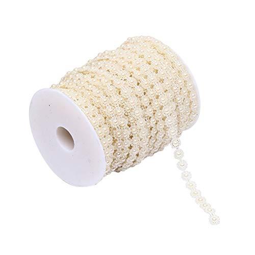 SUPVOX Nachahmung Perle String Kette Perle Linie Kette für DIY Vorhang Hochzeit Dekor Beige