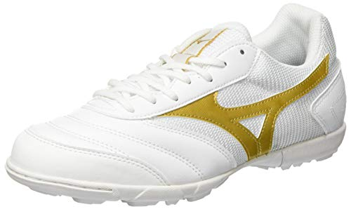 Mizuno MRL Sala Club TF, Zapatillas de fútbol Unisex Adulto, White/Gold, 44.5 EU