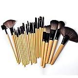 24 Registros de cepillo del maquillaje de cepillo del maquillaje Herramientas prácticas portátil conjunto cepillo para el maquillaje Styling artista de maquillaje y principiantes como presentado
