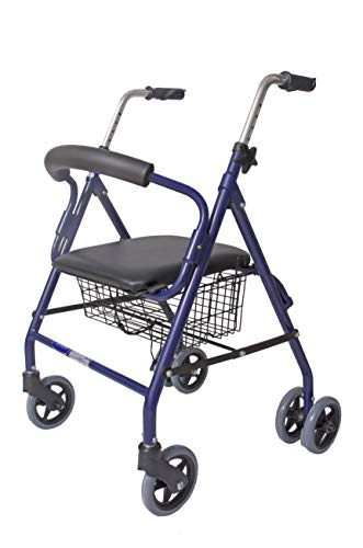 CYMAM BULNES rollator voor senioren met vier wielen, blauw