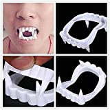 Partysanthe vampire teeth for kids for halloween/White Vampire Fangs for Kids and Adults - Vampire Party Supplies, Dracula Costume Accessories, Best for Halloween Party Favors, Treats, Décor(1 Pcs) Beautiful and safe to use by kids and adults, these ...