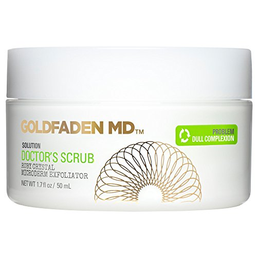 Microderm Daily Facial Exfoliator Doctor's Scrub for Face   w/Ruby Crystals, Hyaluronic Acid & Seaweed Extract   Buffs & Reveals Brighter, Radiant, Healthier Looking Skin   NET WT 1.7 fl oz / 50 mL