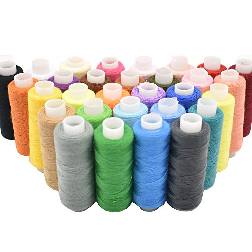 Sewing Thread 30 Colors Sewing Industrial Machine and Hand Stitching 250 Yards Each Sewing Thread Polyester