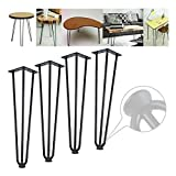 GJXJY Hairpin Table Leg, 7.9-28.3' Heavy Duty Industrial Metal Desk Leg, 3 Rod Coffee Table Leg for DIY Home Kitchen Furniture Office Desk Table End Table Dinging Table