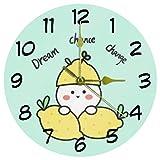 Eslifey Dream Chance Charge - Reloj de pared redondo con bat