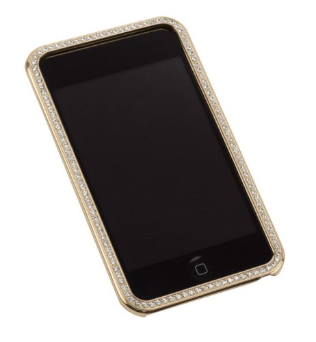 Hot Sale Gilty Couture 14k Gold-plated Bezel Faceplate with Clear Swarovski Crystals for iPod touch 1G